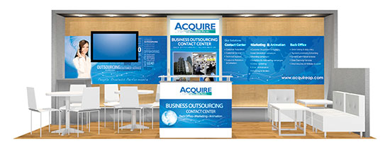 Acquire BPO Booth at Call Center Week in Vegas
