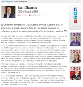 Scott Stavretis - CEO Magazine