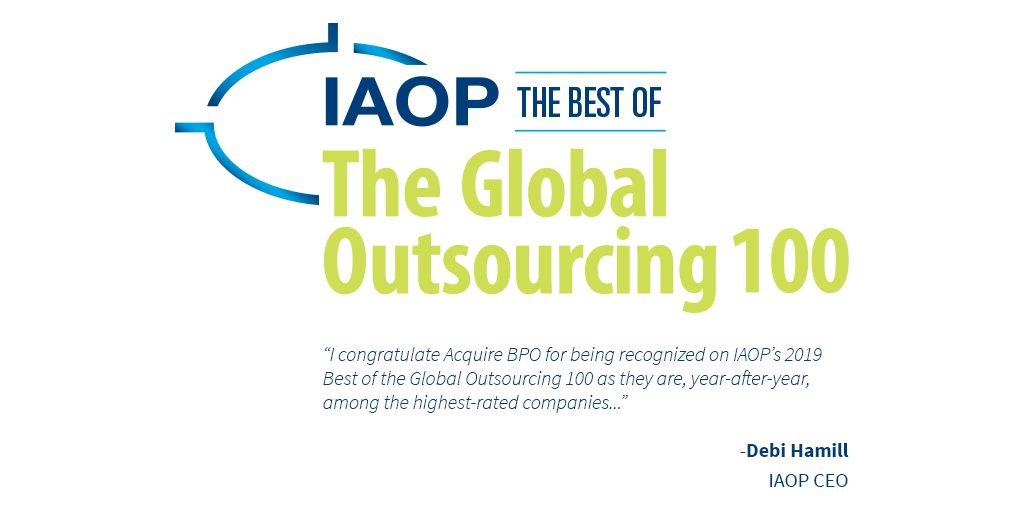 Acquire BPO among the Best in IAOP®'s 2019 Global Outsourcing 100 | Acquire BPO
