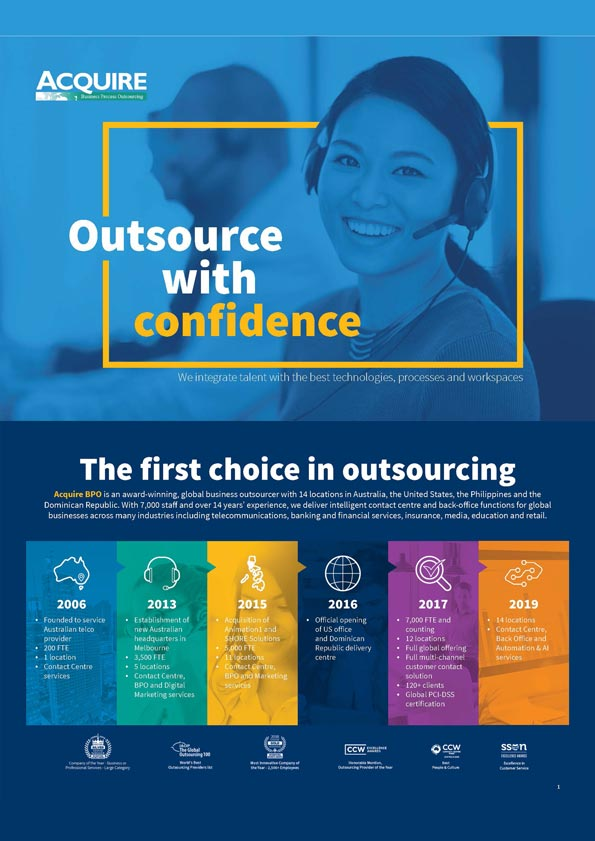 Acquire the outsourcing advantage