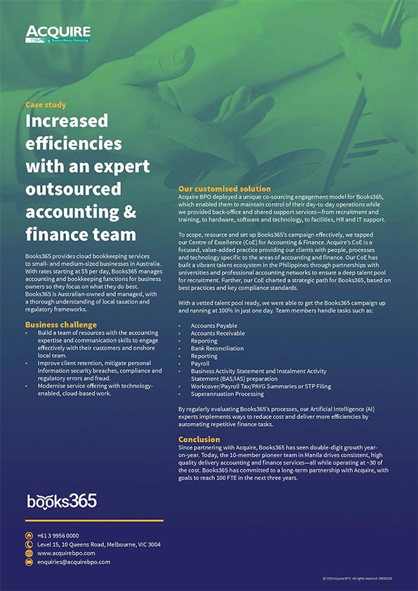 Increase accounting & finance efficiencies with an expert outsourced team
