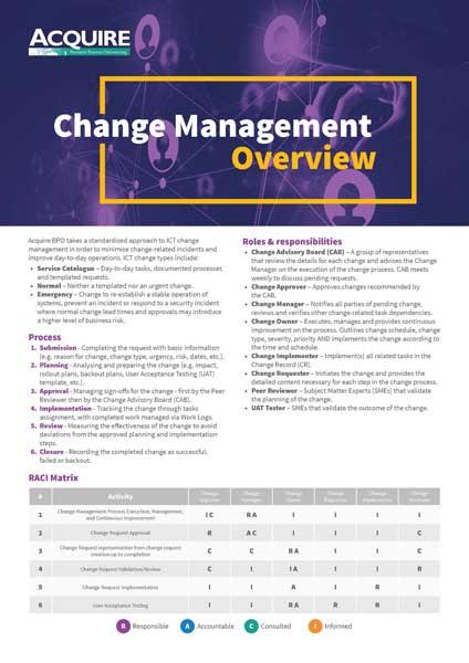 Change Mangement Overview