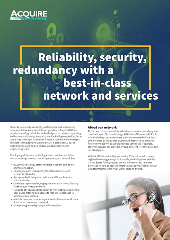Best-in-class network with 99.999% availability