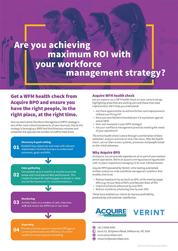 Achieve maximum ROI with Acquire Workforce Management