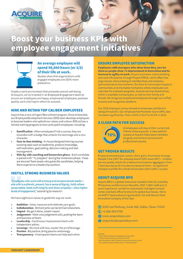Boost your business KPIs with employee engagement initiatives