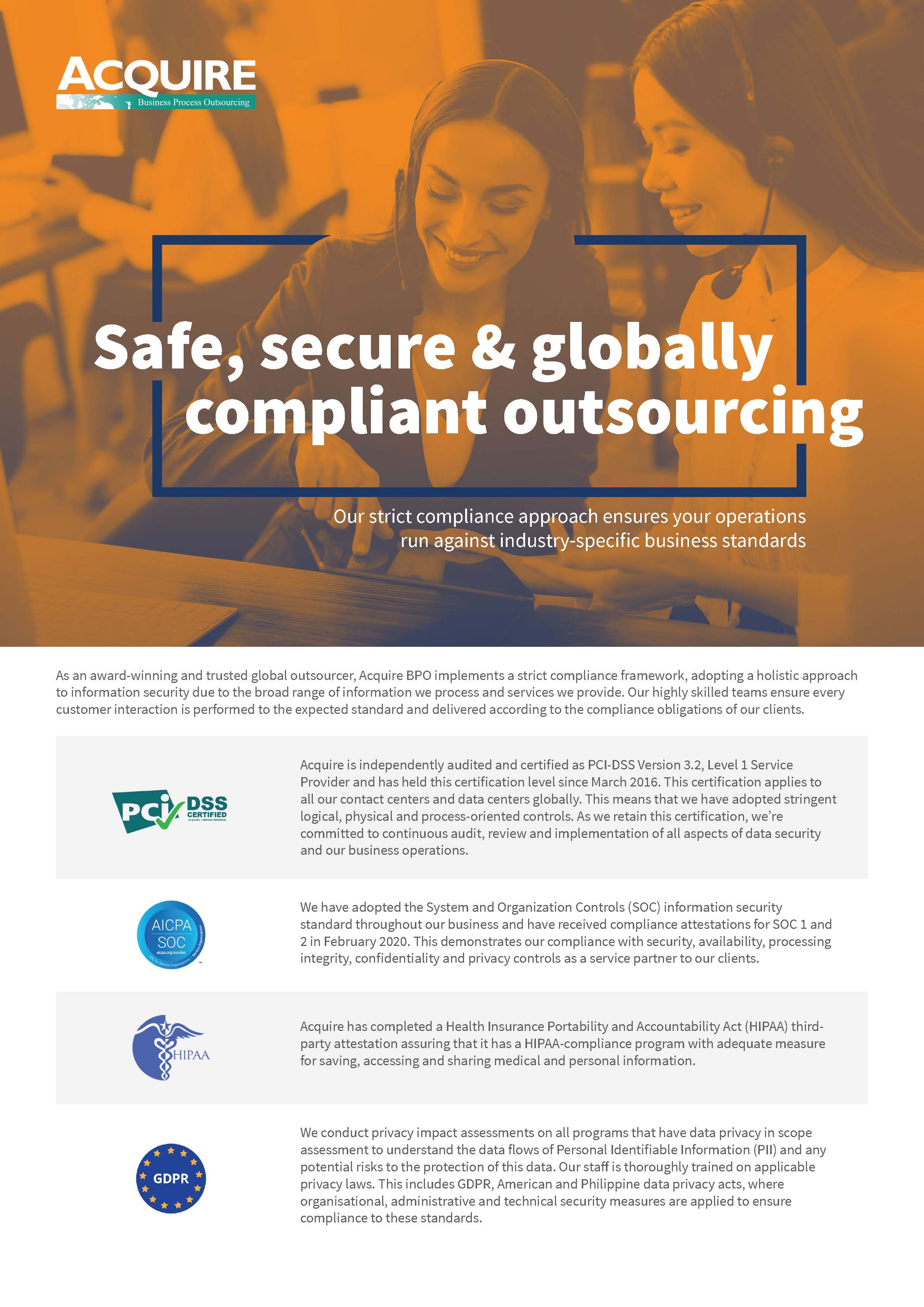 Safe secure & globally compliant outsourcing