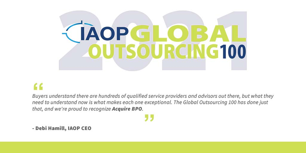 Acquire BPO ranks anew on the IAOP® Global Outsourcing 100 list—for the fifth year in a row!